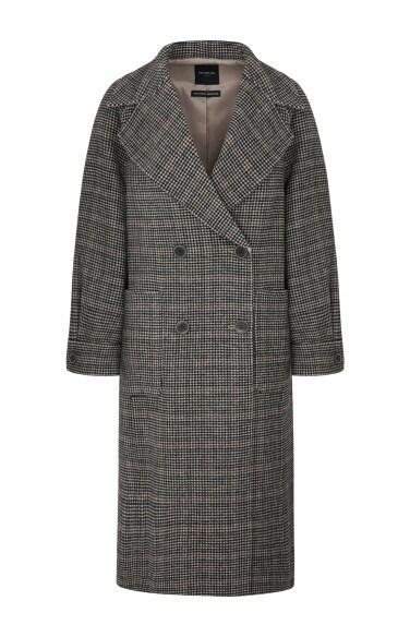 와이드카라 하운드투스체크 코트