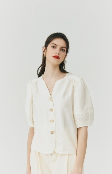 BLOUSE_puff sleeve blouse