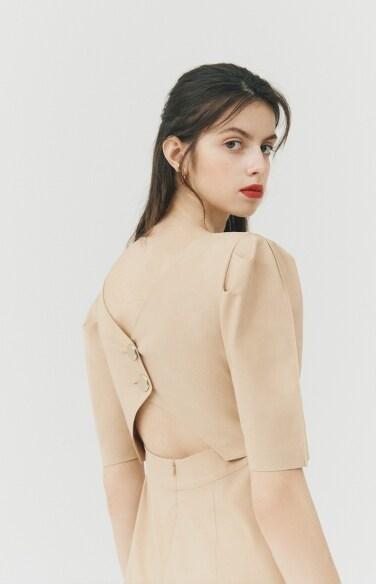 DRESS_back button dress