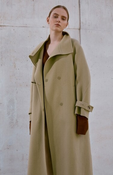 high-neck handmade coat