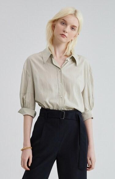 shirring point sleeve shirts