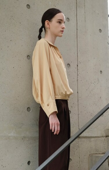 pintuck banding blouse