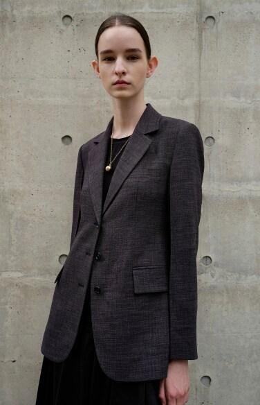 three-button slim jacket