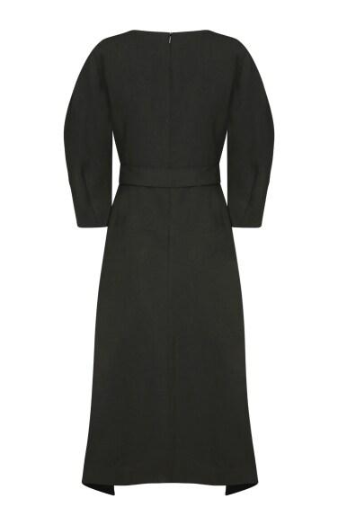 puff sleeve cotton dress
