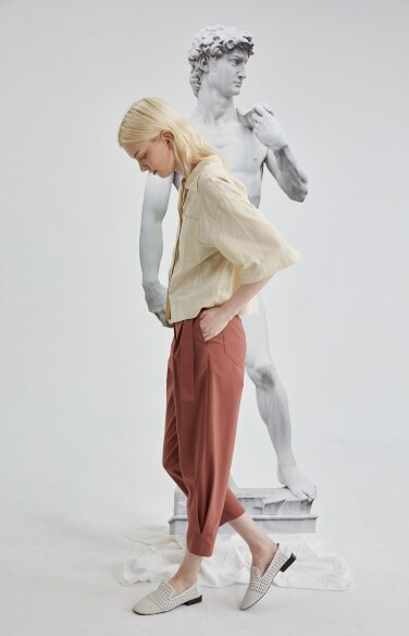 belted coccon pants
