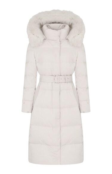 폭스퍼 덕다운 코트(오정연 착용)