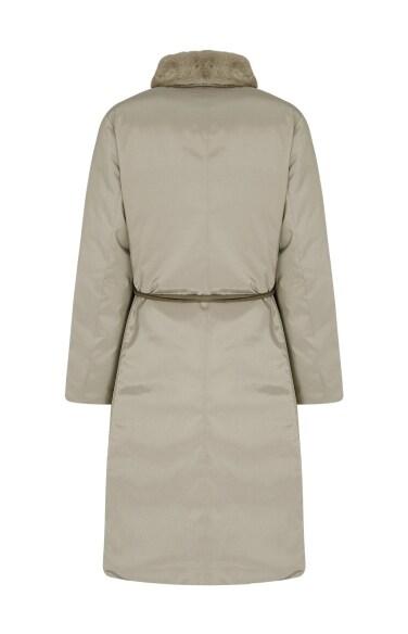 밍크넥 구스다운 재킷