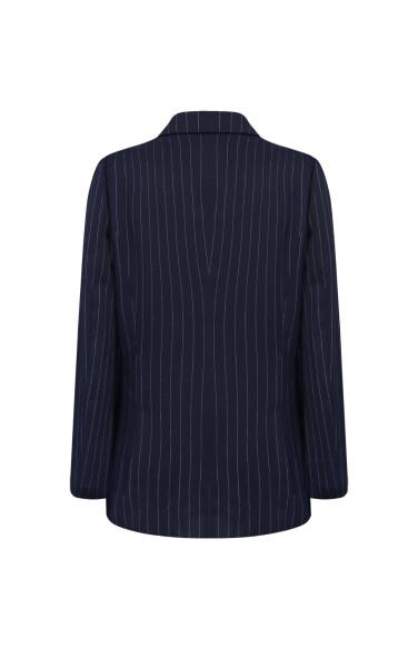 네이비 핀스트라이프 재킷