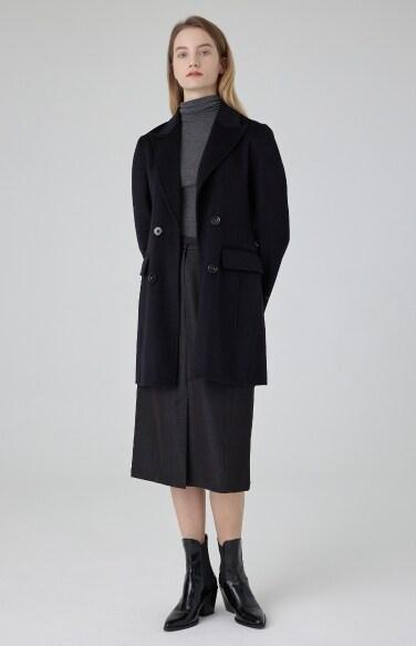 피크드 더블 재킷