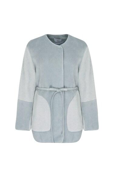 라운드 배색 재킷
