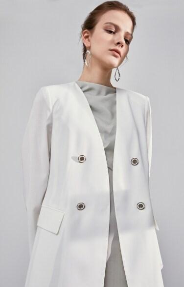 노카라 플랩 재킷