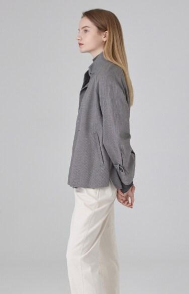 스탠드 멜란지 재킷