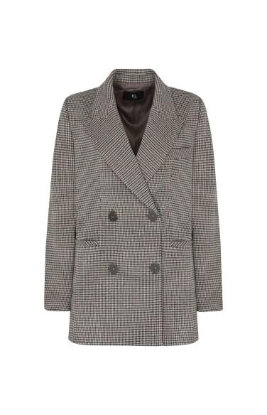 체크 더블 재킷