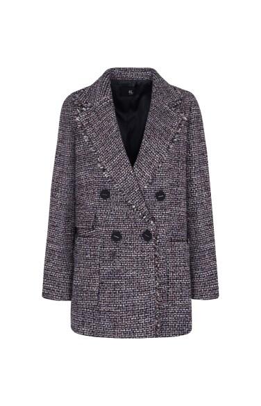 트위드 울 재킷