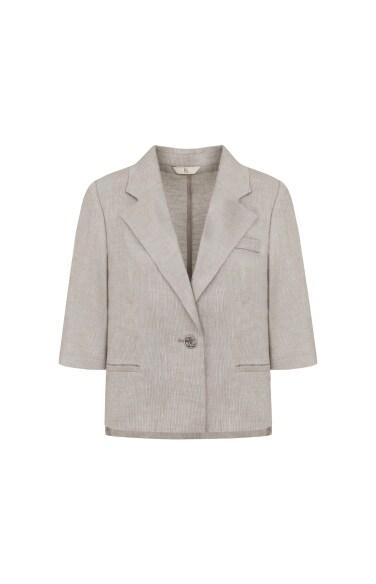 숏 리넨 블렌드 재킷