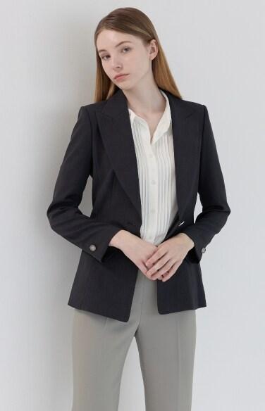 피크드 라펠 싱글 재킷