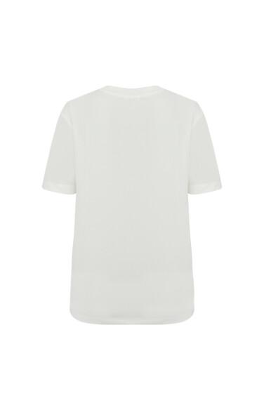 노티컬 프린팅 마린 티셔츠