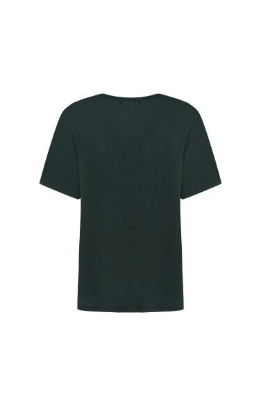 레터링 캐주얼 티셔츠