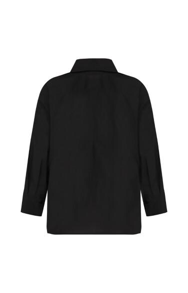 핀턱 디테일 셔츠
