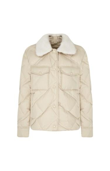 밍크카라 구스다운 자켓