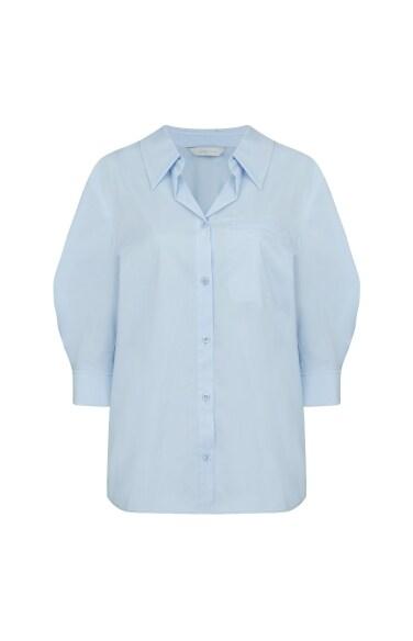 루즈핏 퍼프 슬리브 셔츠