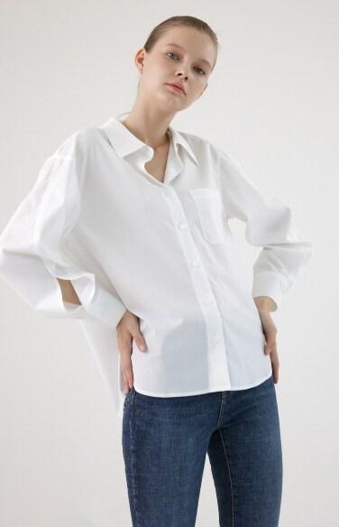 드롭숄더 루즈핏 셔츠