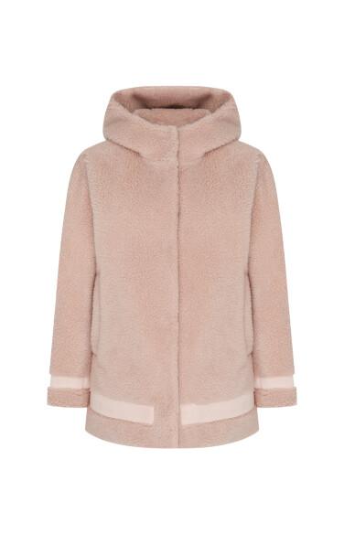 벨로피 양털 후드 자켓