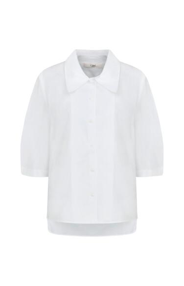 퍼프 버튼다운 셔츠