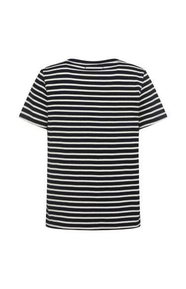 스트라이프 코튼 티셔츠