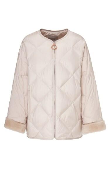 숏 퀼팅 재킷