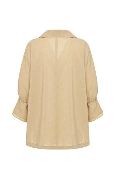 셔링 슬리브 재킷