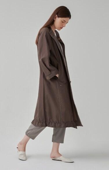 코튼 루즈핏 트렌치 코트