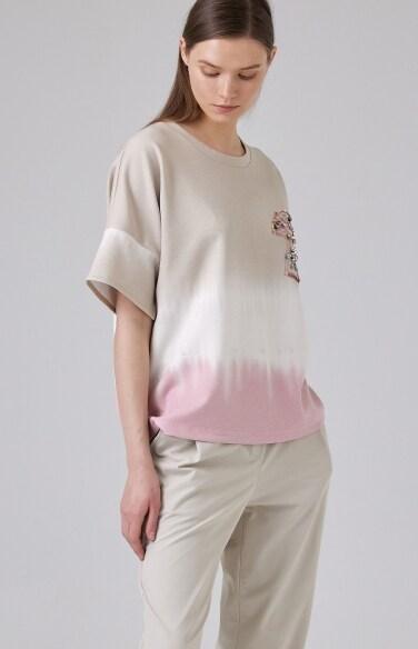그라데이션 반팔 티셔츠