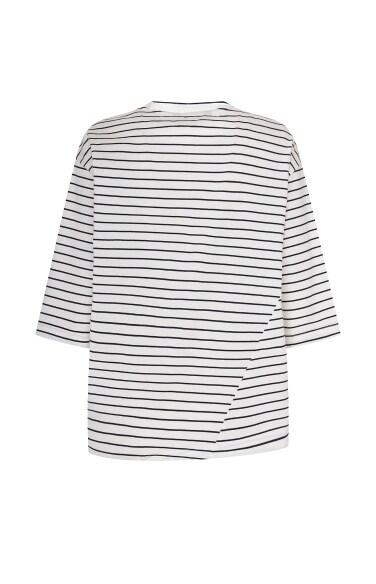 유니크 스트라이프 티셔츠