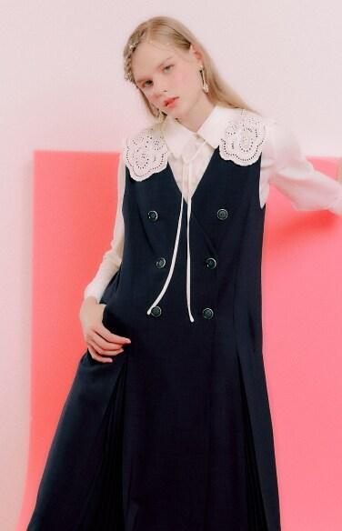 lace cape collar blouse