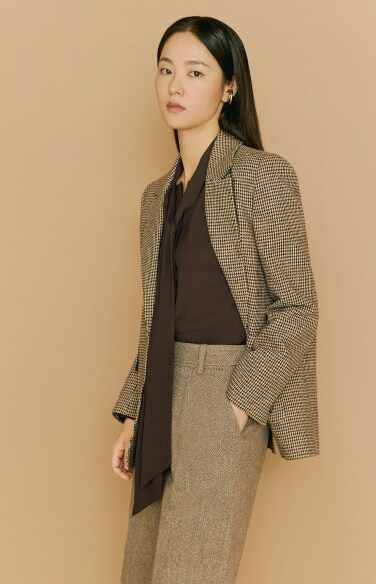 hound tooth check jacket