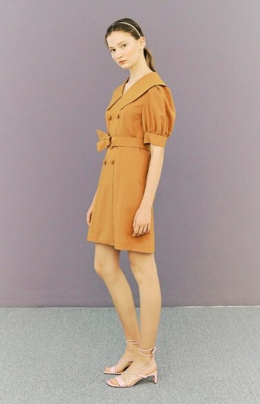 belted double button dress(초아 착용)