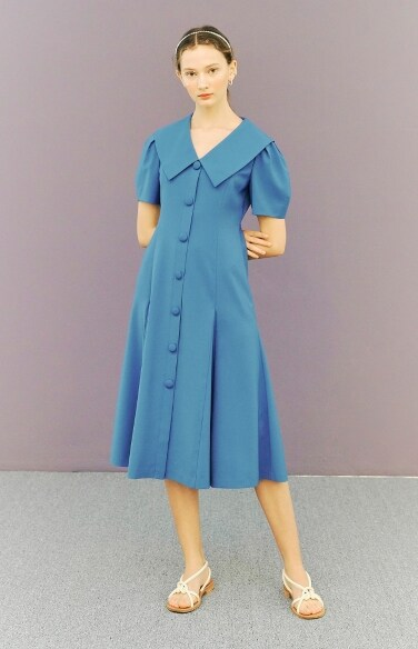 big collar flare dress(박하나, 윤하, 김민아 착용)