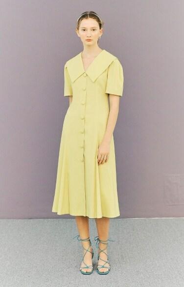 big collar flare dress