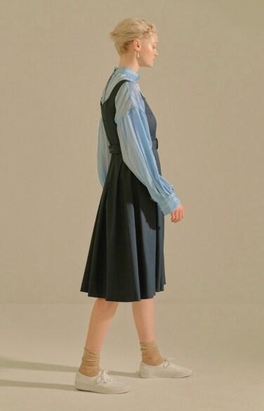 bustier belted dress