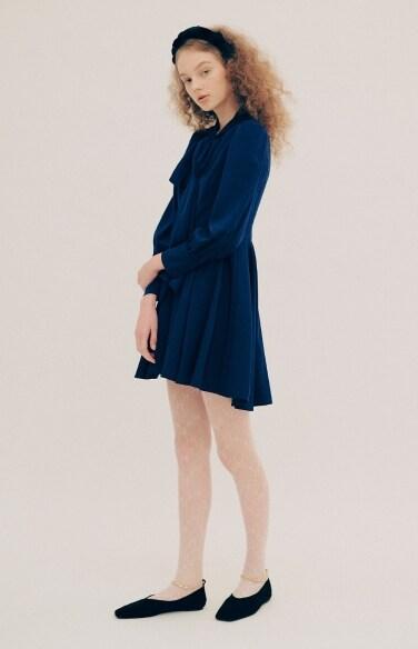 tie mini flare dress(박혜수착용)