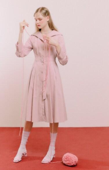 open shawl collar dress(강다솜 착용)