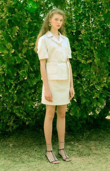 waist band mini skirt