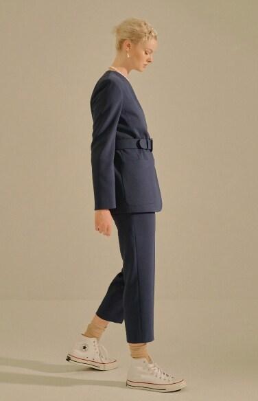 pin tuck pleated pants