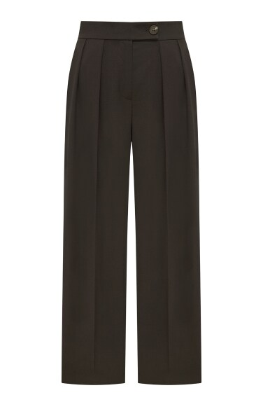 double pin tuck wide pants