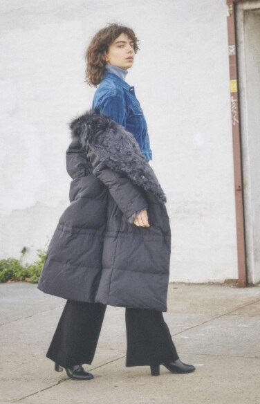 puffy long padding coat
