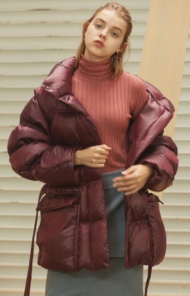belted down jacket(고준희 착용)