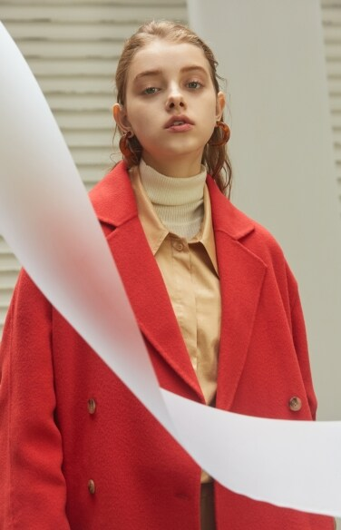 cuffs pointed long wool coat(김유정 조보아 착용)
