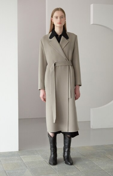 detachable collar long coat(려원 착용)
