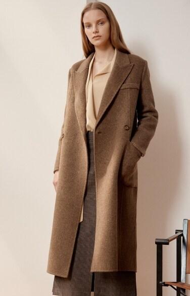 handmade twill wool coat
